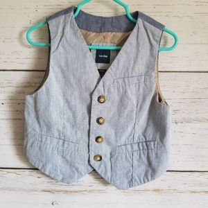 Baby Gap pin Stripe Button Vest